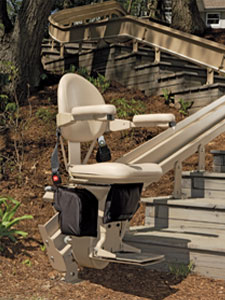 outdoor stair lift device